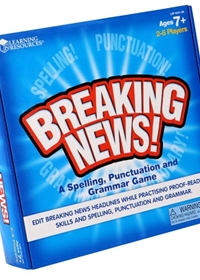 Breaking News! Spelling, Punctuation & Grammar Game